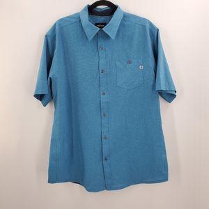 Marmot Casual Button Up Polo Shirt Moisture Wickin